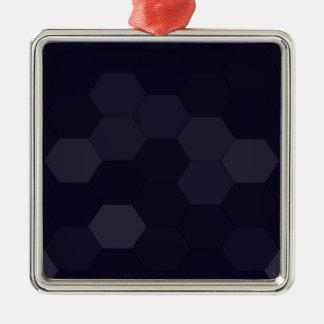 黒い六角形 メタルオーナメント