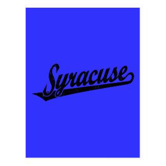 黒い動揺してのシラキュースの原稿のロゴ ポストカード