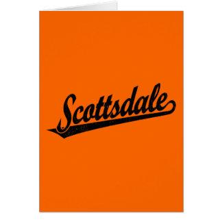 黒い動揺してのスコッツデールの原稿のロゴ カード