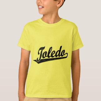 黒い動揺してのトレドの原稿のロゴ Tシャツ
