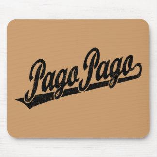 黒い動揺してのパゴパゴの原稿のロゴ マウスパッド