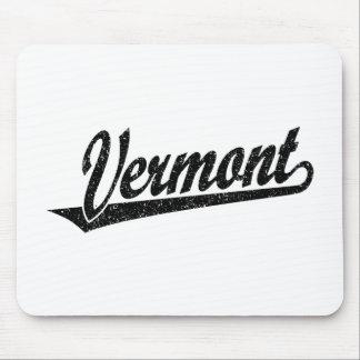 黒い動揺してのヴァーモントの原稿のロゴ マウスパッド