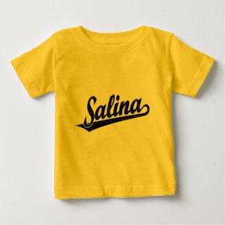 黒い動揺しての塩水性沼沢の原稿のロゴ ベビーTシャツ