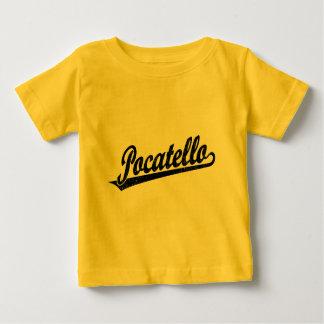 黒い動揺してのPocatelloの原稿のロゴ ベビーTシャツ