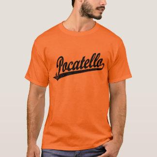 黒い動揺してのPocatelloの原稿のロゴ Tシャツ