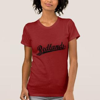 黒い動揺してのRedlandsの原稿のロゴ Tシャツ
