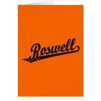 黒い動揺してのRoswellの原稿のロゴ カード