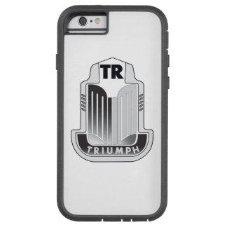 黒い勝利のロゴ iPhone 6 タフ・エクストリームケース