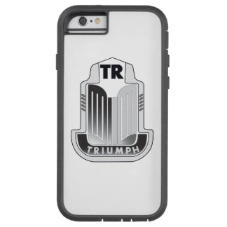 黒い勝利のロゴ TOUGH XTREME iPhone 6 ケース