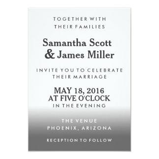 黒い勾配のシンプル及び上品な 結婚の招待 12.7 X 17.8 インビテーションカード