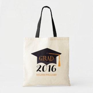 黒い卒業生の帽子の絵の卒業生2016年 トートバッグ
