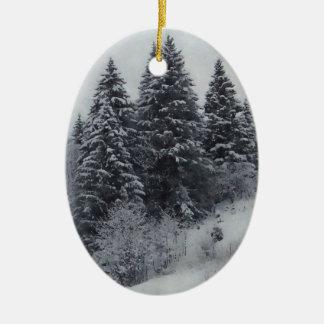 黒い及びホワイトクリスマスの装飾 セラミックオーナメント