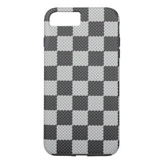 黒い及び灰色カーボン繊維のレジ係板 iPhone 8 PLUS/7 PLUSケース