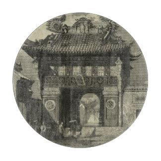 黒い及び白のアジア帝国寺院 カッティングボード