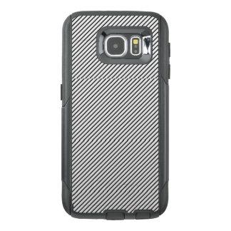 黒い及び白のストライプな携帯電話の箱 オッターボックスSamsung GALAXY S6ケース