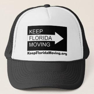 黒い及び白のフロリダの移動帽子を保って下さい キャップ