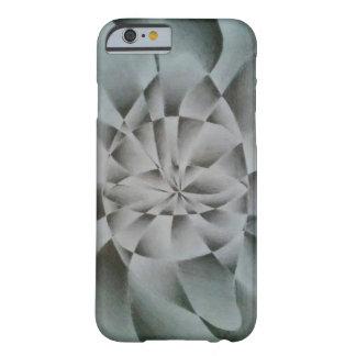 黒い及び白の抽象的な目のスケッチ BARELY THERE iPhone 6 ケース