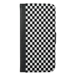 黒い及び白人のレジ係 iPhone 6/6S PLUS ウォレットケース