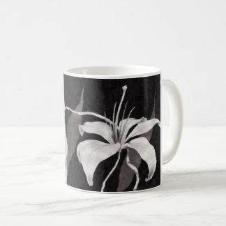 黒い及び白人のLilly コーヒーマグカップ