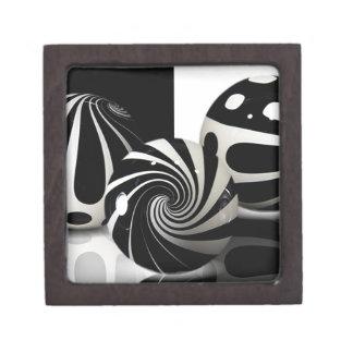 黒い及び白優れたギフト用の箱に大理石模様をつけます ギフトボックス