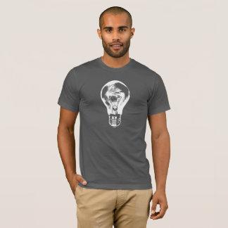 黒い及び白色光の球根-ワイシャツ Tシャツ