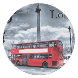 黒い及び白(St.K)のロンドンバス プレート