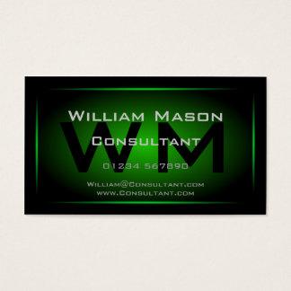黒い及び緑の組み立てられたモノグラム-名刺 名刺