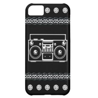 黒い及び銀製のダイヤモンド、Boombox iPhone5Cケース