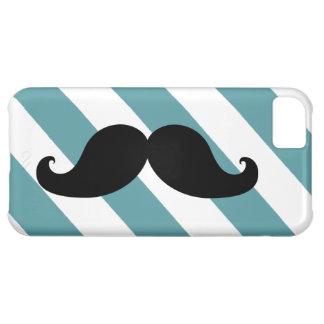 黒い口ひげのターコイズは縞で飾ります iPhone5Cケース