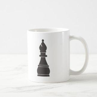 黒い司教の駒 コーヒーマグカップ