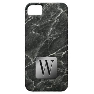 黒い大理石のモノグラム iPhone SE/5/5s ケース