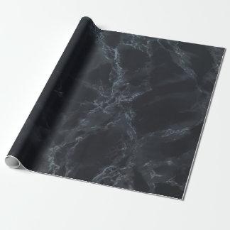 黒い大理石の質の一見 ラッピングペーパー