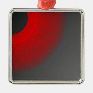 黒い太陽の赤灯 メタルオーナメント