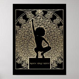 黒い女の子の石! ポスター
