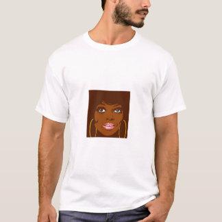 黒い女性 Tシャツ