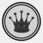黒い女王の駒 ラウンドシール