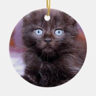 黒い子ネコのオーナメント セラミックオーナメント