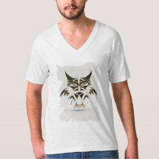 黒い子ネコのvNeckのTシャツ Tシャツ