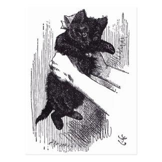 黒い子ネコ はがき