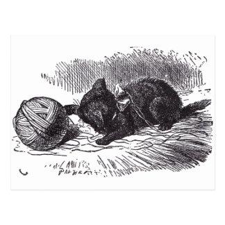 黒い子ネコ 葉書き