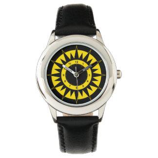 黒い子供および黄色い日曜日 腕時計
