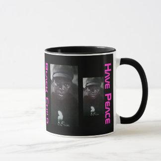 黒い子供 マグカップ