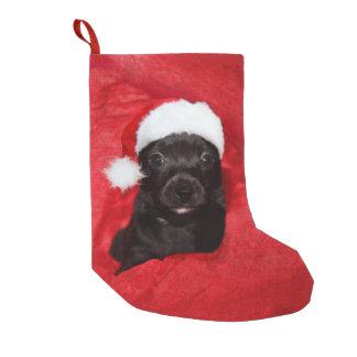 黒い子犬のクリスマス スモールクリスマスストッキング