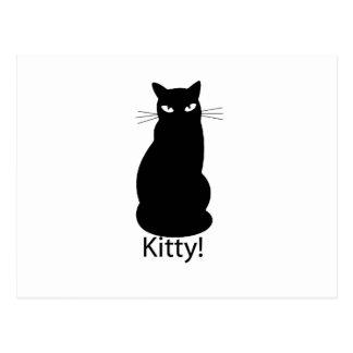 黒い子猫猫 ポストカード