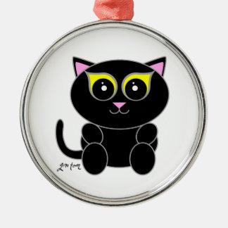 黒い子猫 メタルオーナメント