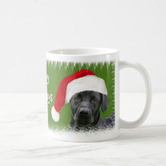黒い実験室のクリスマス コーヒーマグカップ