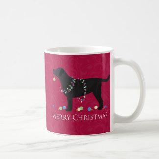 黒い実験室のメリークリスマスのデザイン コーヒーマグカップ