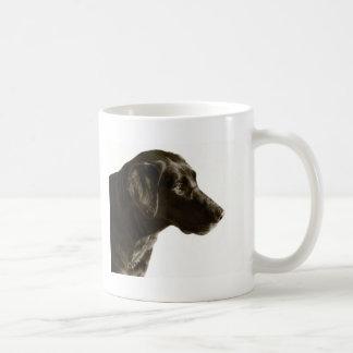 黒い実験室のラブラドル・レトリーバー犬犬のポートレート コーヒーマグカップ
