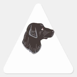 黒い実験室の頭部 三角形シール