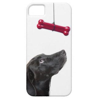 黒い実験室は赤い犬用の骨によって犬を混合しました iPhone SE/5/5s ケース